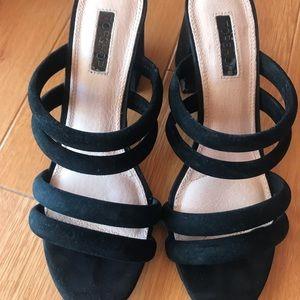 Topshop Suede Block Heel Sandals